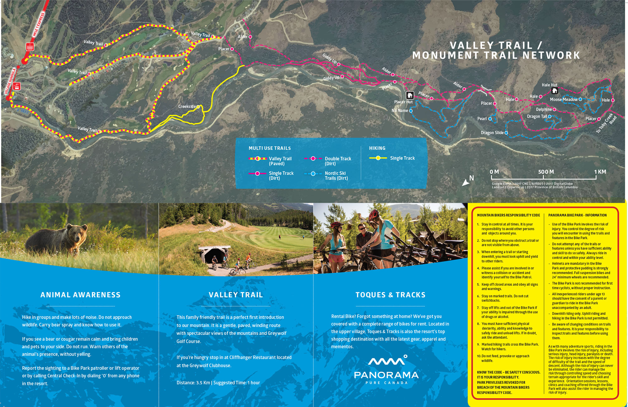 Summer Trail Map on