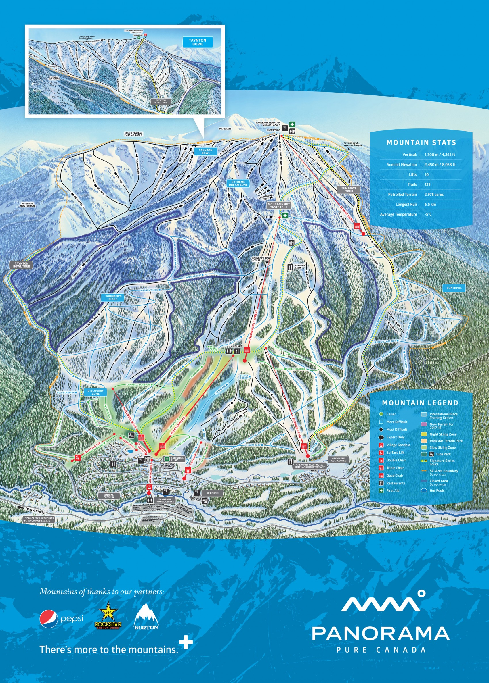 Winter Trail Map on