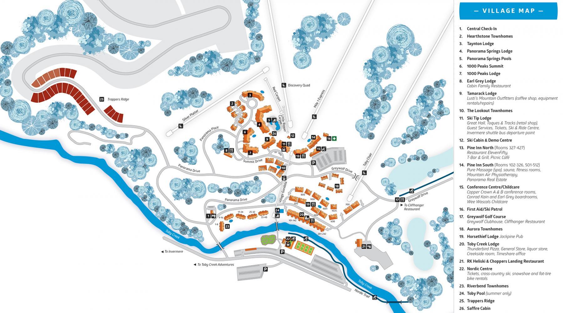 Village Map Panorama Mountain Resort